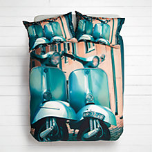 Buy House by John Lewis Twin Vespa Duvet Cover and Pillowcase Set, Teal Online at johnlewis.com