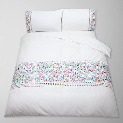 Buy John Lewis Kally Floral Embroidered Bedding, Multi Online at johnlewis.com