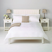 Buy John Lewis Laurie Floral Jacquard Bedding, White Online at johnlewis.com