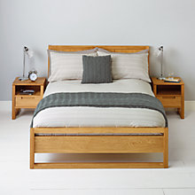 Buy John Lewis Lindon Stripe Bedding, Natural Online at johnlewis.com