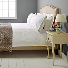 Buy John Lewis Mayfair Rose 800 Thread Count Bedding, White Online at johnlewis.com