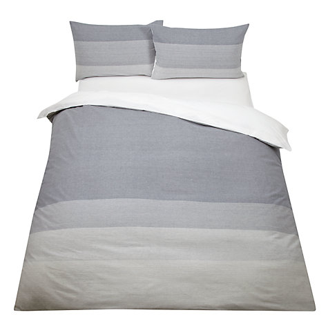 Buy John Lewis Ombre Seersucker Bedding, Blue Online at johnlewis.com