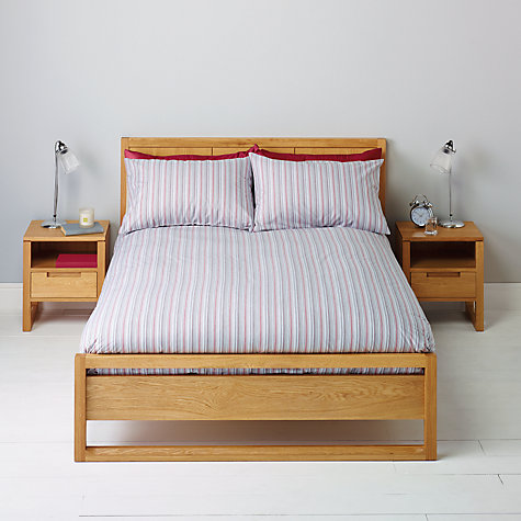 Buy John Lewis Oscar Stripe Bedding, Blue Online at johnlewis.com