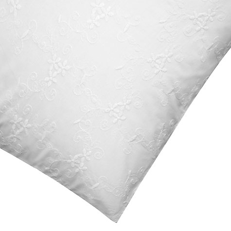 Buy John Lewis Sofia Floral Embroidered Bedding, White Online at johnlewis.com