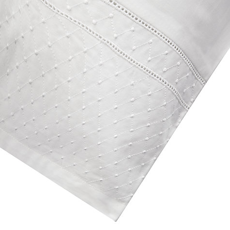 Buy John Lewis Sylvie Lattice Embroidered Bedding, White Online at johnlewis.com