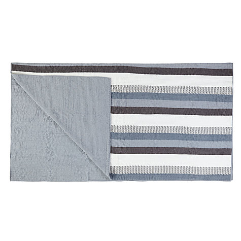 Buy John Lewis Wide Stripe Bedspread, Blue Online at johnlewis.com