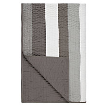 Buy John Lewis Wide Stripe Bedspread, Grey Online at johnlewis.com