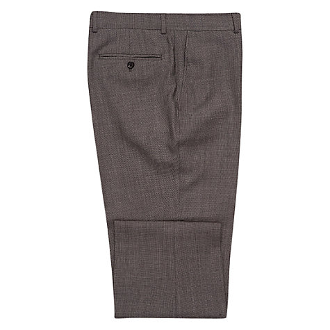 Buy Chester by Chester Barrie Birdseye Weave Trousers Regular Fit, Mid Grey Online at johnlewis.com