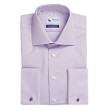 Buy Chester by Chester Barrie Pinpoint Tailored Long Sleeve Shirt, Lilac Online at johnlewis.com