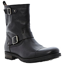 Buy Dune Centaur Buckle Leather Boots Online at johnlewis.com
