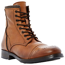 Buy Dune Camper Brogue Lace Up Boots, Brown Online at johnlewis.com