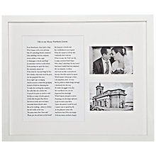 Buy Bespoke Verse Personalised Special Occasion Poem Framed Print, 41 x 49cm Online at johnlewis.com
