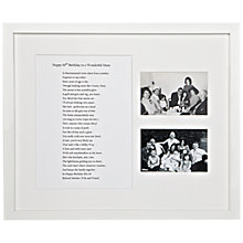 Buy Bespoke Verse Personalised Special Person Poem Framed Print, 41 x 49cm Online at johnlewis.com