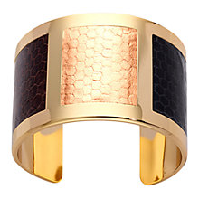 Buy Aspinal of London Gold Roma Bangle, Brown Gold Online at johnlewis.com
