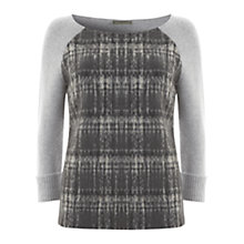 Buy Mint Velvet Check Front Knitted Jumper, Multi Online at johnlewis.com