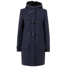 Buy Jaeger Hooded Duffle Coat, Navy Online at johnlewis.com