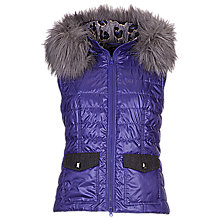 Buy Betty Barclay Padded Gilet, Ultra Vilolet Online at johnlewis.com