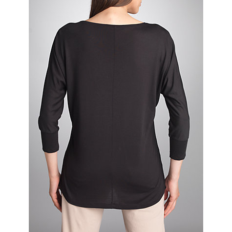Buy Betty Barclay Fine Longline Tee, Black Online at johnlewis.com