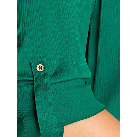 Buy Mango Textured Satin Blouse, Dark Green Online at johnlewis.com