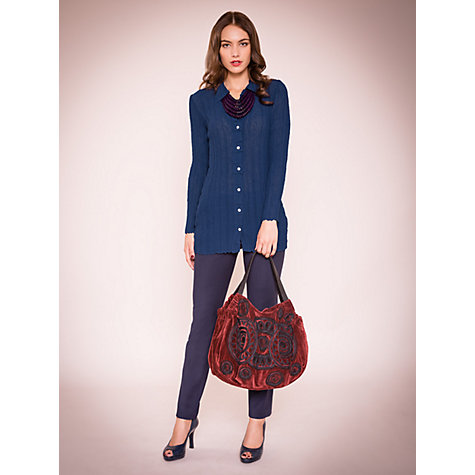 Buy East Bubble Long Shirt, Deep Blue Online at johnlewis.com