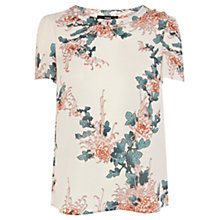 Buy Oasis Oriental Floral Top, Cream Online at johnlewis.com