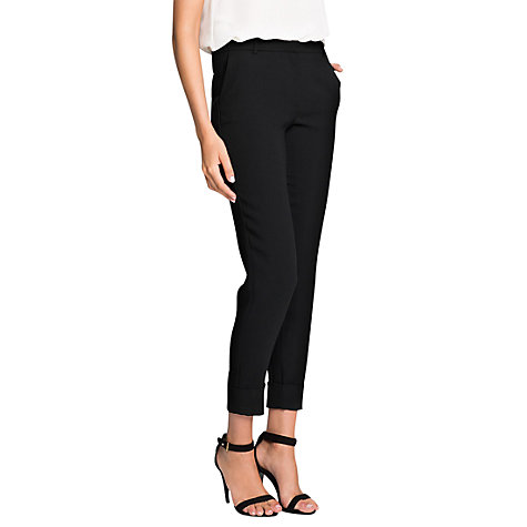 Buy Mango Crepe Suit Trousers, Black Online at johnlewis.com