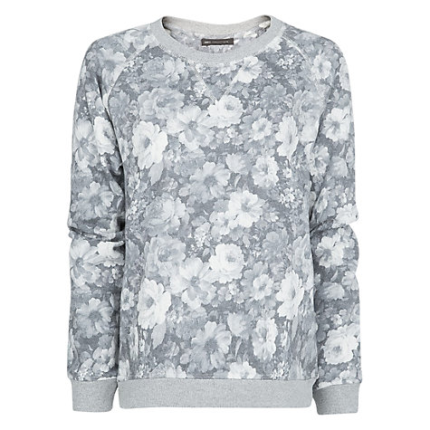Buy Mango Floral Print Sweatshirt, Medium Grey Online at johnlewis.com