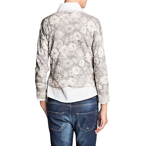 Buy Mango Pastel Floral Jumper, Light Grey Online at johnlewis.com