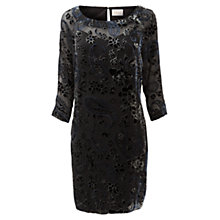 Buy East Paisley Devoré Dress, Black Online at johnlewis.com