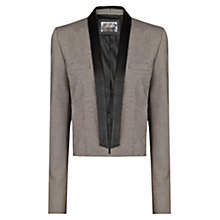 Buy Mango Cropped Houndstooth Blazer, Black/Brown Online at johnlewis.com