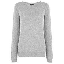 Buy Warehouse Quilted Jumper, Light Grey Online at johnlewis.com