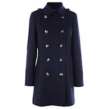 Buy Oasis Military Coat, Navy Online at johnlewis.com