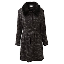Buy East Twinkle Tweed Coat, Black Online at johnlewis.com