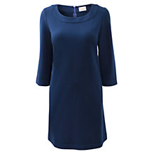 Buy East Band Detail Shift Dress, Deep Blue Online at johnlewis.com