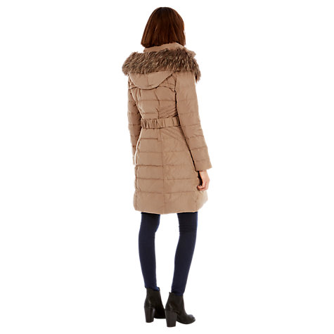 Buy Warehouse Chevron Coat, Beige Online at johnlewis.com