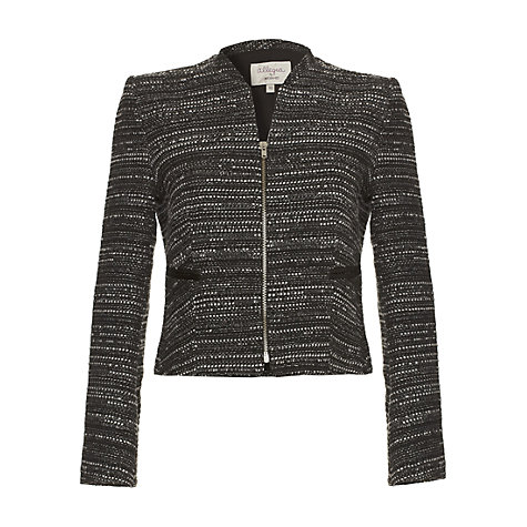 Buy allegra by Allegra Hicks Aria Jacquard Jacket, Black Online at johnlewis.com