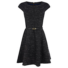 Buy Oasis Boucle Tweed Skater Dress, Multi Black Online at johnlewis.com