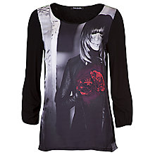 Buy Betty Barclay Long Sleeve Tee, Red/Black Online at johnlewis.com