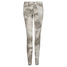 Buy Mango Paisley Print Jeans, Medium Grey Online at johnlewis.com