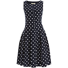 Buy Havren Polka Dress, Navy Combo Online at johnlewis.com