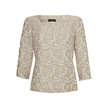 Buy allegra by Allegra Hicks Maria Floral Jacquard Top, Cream Online at johnlewis.com