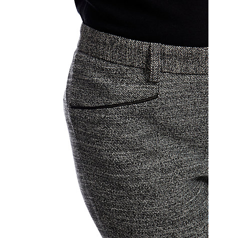 Buy Oasis Tweed Slim Trousers, Multi Grey Online at johnlewis.com