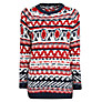 Buy Mango Fair Isle Alpaca Jumper, Navy/Red Online at johnlewis.com