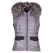 Buy Betty Barclay Padded Gilet, Bright Grey Online at johnlewis.com
