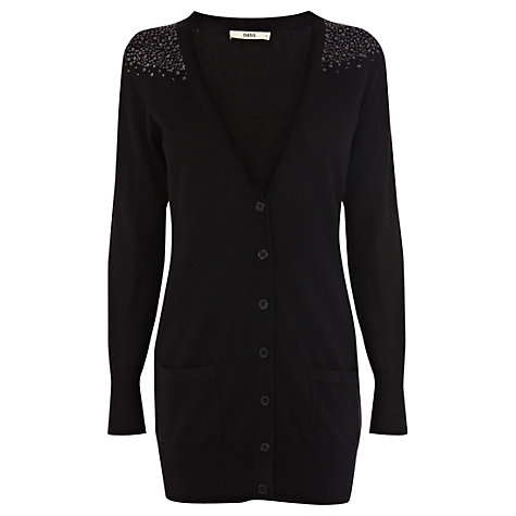 Buy Oasis Sequin Shoulder Cardigan Online at johnlewis.com