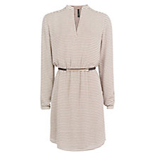 Buy Mango Retro Dress, Medium Brown Online at johnlewis.com