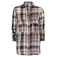 Buy Mango Check Shirt, Light Beige Online at johnlewis.com