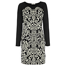 Buy Oasis Jacquard Dress, Multi Black Online at johnlewis.com
