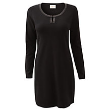 Buy East Beaded Knitted Dress, Black Online at johnlewis.com