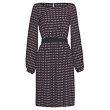 Buy allegra by Allegra Hicks Zig Zag Geometric Dress, Navy Online at johnlewis.com